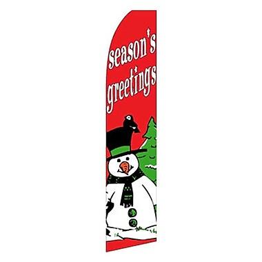 NeoPlex Seasons Greeting w/ Snowman Swooper Flag