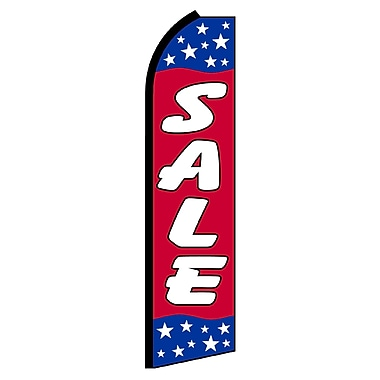 NeoPlex Sale w/ Stars on Top and Bottom Swooper Flag