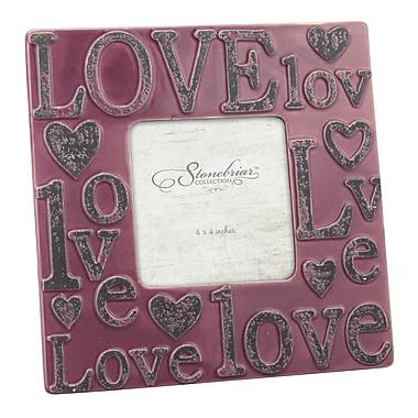 CKK Home D cor, LP Stonebriar Worn Marsala Ceramic Love Picture Frame