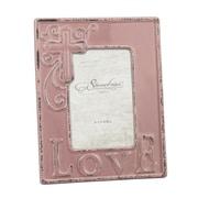 CKK Home D cor, LP Stonebriar Worn Faded Rose Ceramic Love Picture Frame