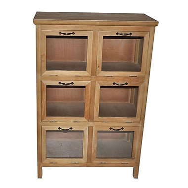 Cheungs Wood Storage Cabinet w/ Glass Doors