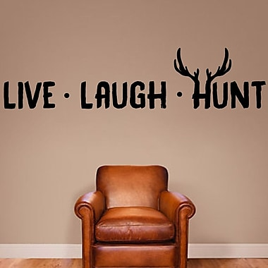 SweetumsWallDecals Live Laugh Hunt Wall Decal; Black