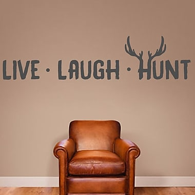 SweetumsWallDecals Live Laugh Hunt Wall Decal; Dark Gray