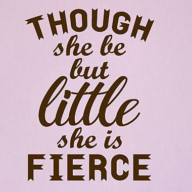 SweetumsWallDecals She is Fierce Wall Decal; Chocolate Brown