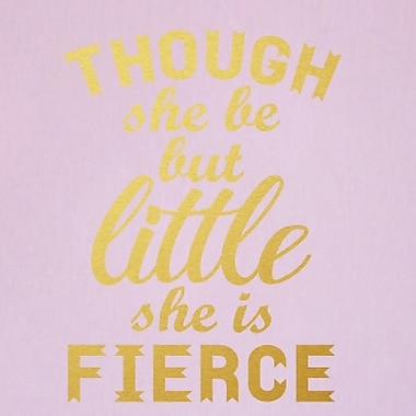 SweetumsWallDecals She is Fierce Wall Decal; Gold