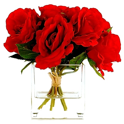 LCGFlorals Rose Bouquet in a Cube w/