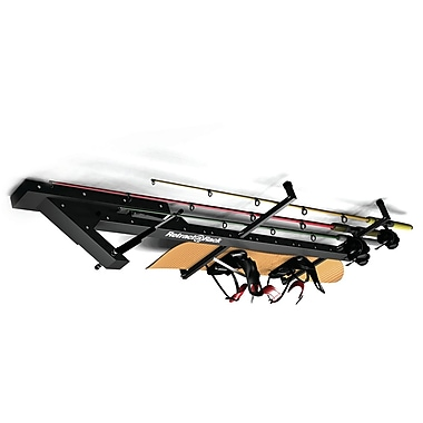 Bluworld Retract-A-Rack C Equipment Storage Ceiling Mounted Sports Rack; Black