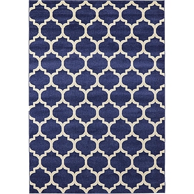 Rugs America Brooklyn Navy/Ivory Area Rug; 5'3'' x 7'10''