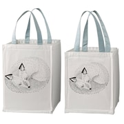Bloomingville Sleeping Animal 2 Piece Storage Bag w/ Handles Set