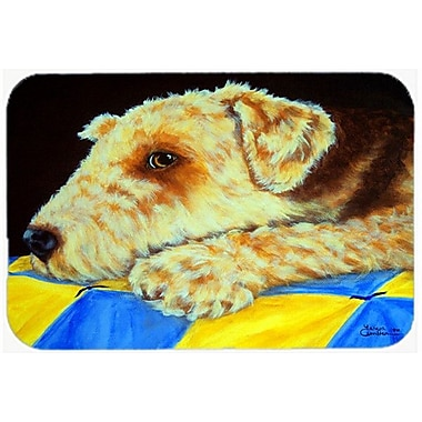 Caroline's Treasures Airedale Terrier Momma's Quilt Glass Cutting Board