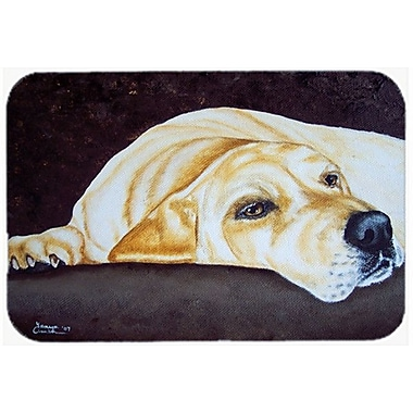 Caroline's Treasures Naptime Yellow Labrador Glass Cutting Board