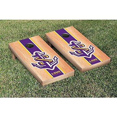 Victory Tailgate NAIA Hardcourt Striped Version Cornhole Game Set; Shreveport Pilots
