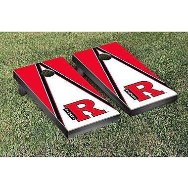 Victory Tailgate NCAA Triangle Version Cornhole Game Set; Rutgers Newark Scarlet Raiders