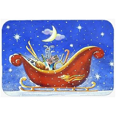 Caroline's Treasures Christmas Santa's Sleigh Glass Cutting Board