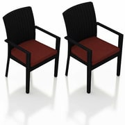 Harmonia Living Urbana Dining Arm Chair w/ Cushion (Set of 2); Canvas Henna