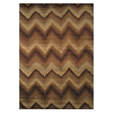 LA Rugs Inspiration Brown/Cream Area Rug; Runner 2' x 8'