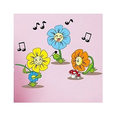 Style and Apply Flower Trio Wall Decal; 37'' H x 59'' W