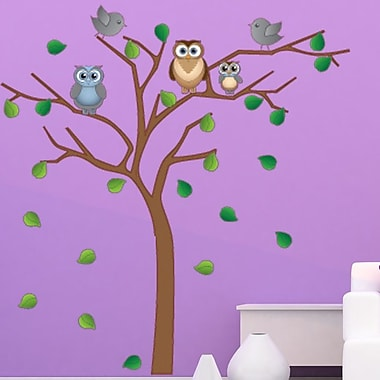 Style and Apply Noble Owl Tree Wall Decal; 24'' H x 24'' W