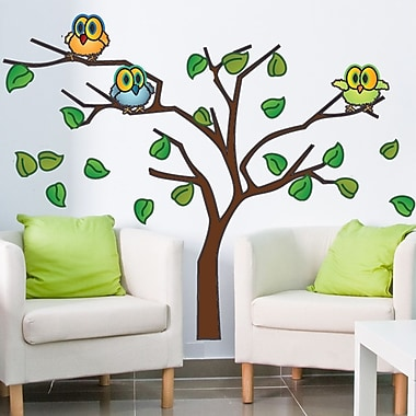 Style and Apply Owls in a Tree Wall Decal; 25'' H x 31'' W