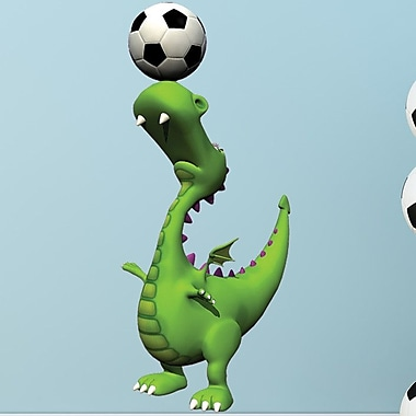Style and Apply Soccer Dino II Wall Decal; 46'' H x 22'' W