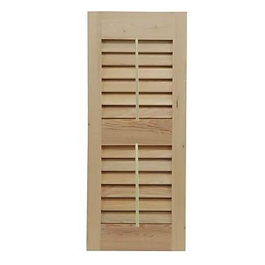 Shutters By Design Western Cedar Louvered Shutter w/ Faux Tilt Rod (Set of 2); 30'' H x 15'' W