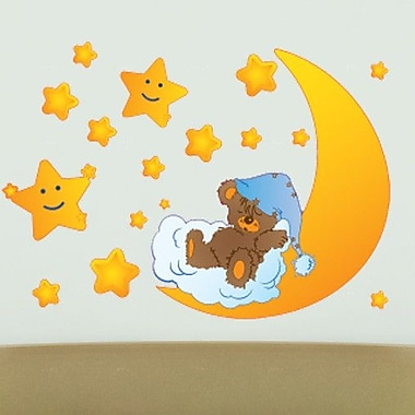 Style and Apply Teddy's Stars Wall Decal; 33'' H x 46'' W