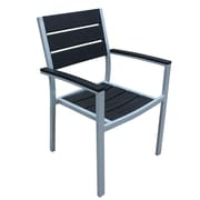 Harmonia Living Brasserie Stacking Patio Dining Chair w/ Cushion