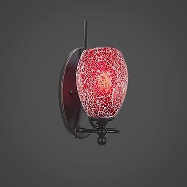 Toltec Lighting Capri 1-Light Wall Sconce; Red