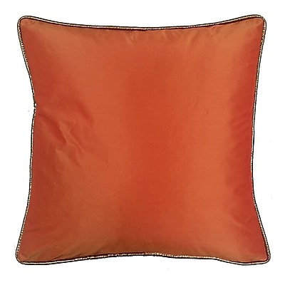 R&MIndustries Taffeta Metallic Throw Pillow; Copper