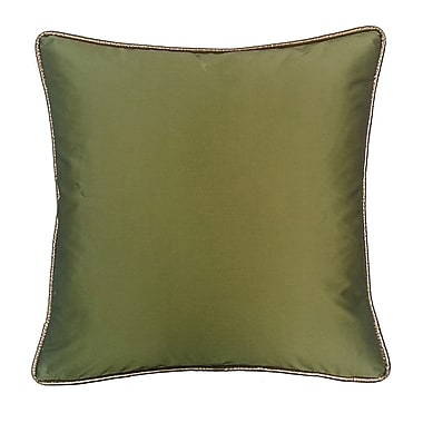 R&MIndustries Taffeta Metallic Throw Pillow; Peridot
