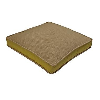 R&MIndustries Loft Side Band Throw Pillow; Gold