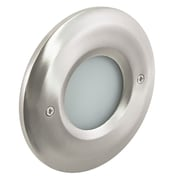 American Lighting LLC 1-Light LED Step Light; Nickel
