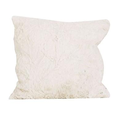 Cotton Tale Raspberry Dot Faux Fur Decor Pillow