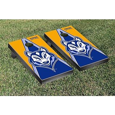 Victory Tailgate NCAA Triangle Version Cornhole Game Set; University of Southern Maine USM Huskies