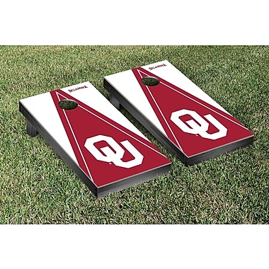 Victory Tailgate NCAA Triangle Version Cornhole Game Set; Oklahoma Sooner