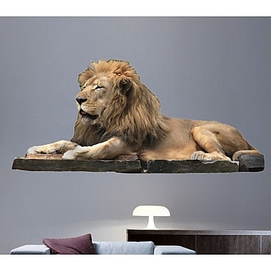 Wallhogs Lion Resting Wall Decal; 11'' H x 24'' W