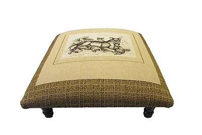 Corona Decor Safari Lions Family Footstool WYF078278543336