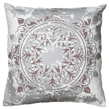Wildon Home Cynthya Pillow Cover; Silver