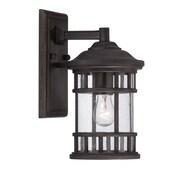 Acclaim Lighting Vista II 1-Light Outdoor Wall Lantern; Black Coral