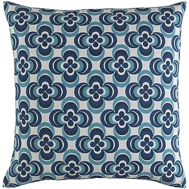Artistic Weavers Trudy Rosa Cotton Throw Pillow Cover; Blue Multi