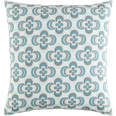 Artistic Weavers Trudy Rosa Cotton Throw Pillow Cover; Teal Multi