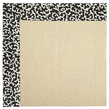 Capel Zoe Machine Tufted Black Cascade Indoor/Outdoor Area Rug; Rectangle 2' x 3'
