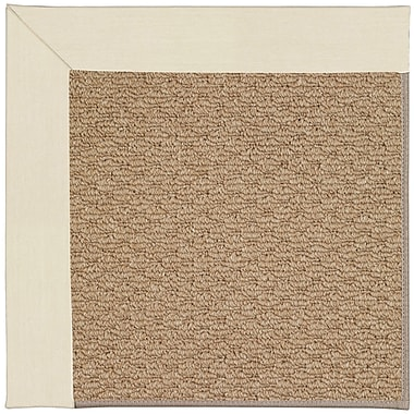 Capel Zoe Machine Tufted Sandy/Brown Indoor/Outdoor Area Rug; Rectangle 5' x 8'