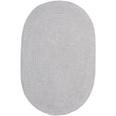 Capel Custom Classics Braided Moonstone Area Rug; Oval 3' x 5'