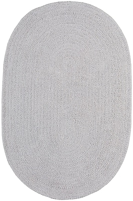 Capel Custom Classics Braided Moonstone Area Rug; Oval 4' x 6'