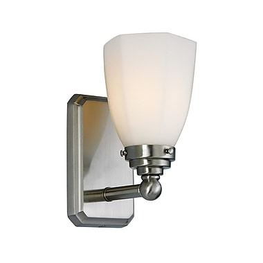 Norwell Lighting Williams 1-Light Wall Sconce; Brushed Nickel
