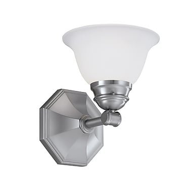 Norwell Lighting Kathryn 1-Light Wall Sconce; Brushed Nickel