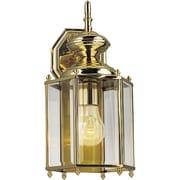 Progress Lighting BrassGUARD 1-Light Wall Lantern; Polished Brass