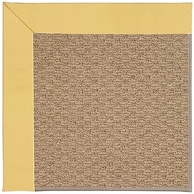 Capel Zoe Machine Tufted Lemon/Brown Indoor/Outdoor Area Rug; Rectangle 3' x 5'