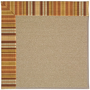Capel Zoe Machine Tufted Button Mushroom/Brown Indoor/Outdoor Area Rug; Rectangle 7' x 9'